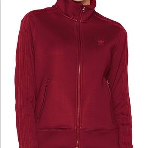 adidas Sweaters - Burgundy adidas jacket